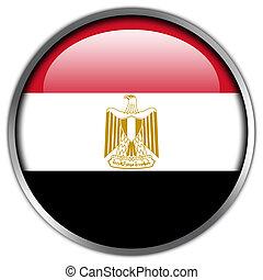 Egypt Flag glossy button