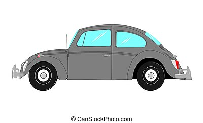 beetle car - popular German beetle car from sixties