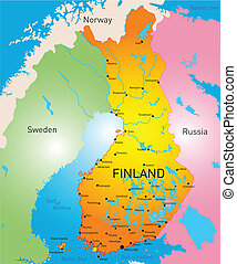 Finland - vector color map of Finland country