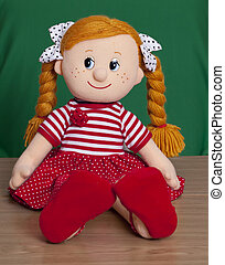 Red haired baby doll - Portrait of Red haired baby doll