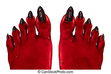 Devil Feet - Devil feet and red zombie feet as a creepy...