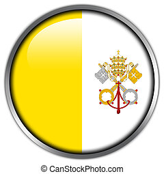Vatican City Flag glossy button