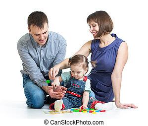 happy family play toys