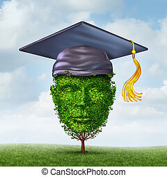 Education Growth - Education growth concept as a graduation...