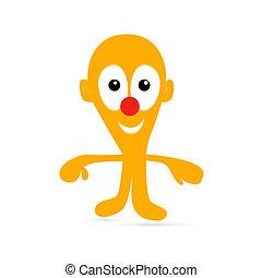 Orange Man Illustration