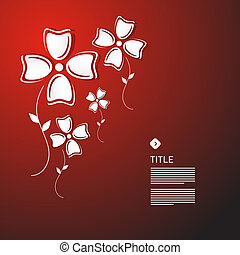 Abstract Vector White Paper Flowers
