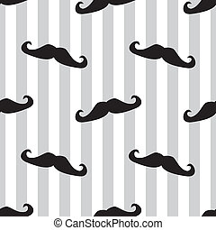 Seamless vector mustache background. Pattern or texture with...