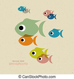 Transparent Colorful Fish Icons - Vector Transparent...