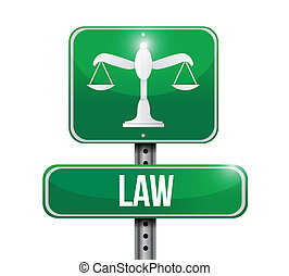 law road sign illustration design over a white background