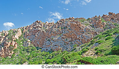 Gallura rocks - typical Gallura rocks under a blue sky