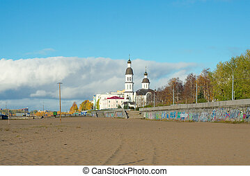 Dormition church circa 1742-1744, Arkhangelsk, Russia -...