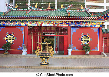 Chinese buddhist temple, Bandar Seri Begawan, Brunei,...