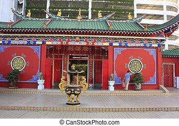 Chinese buddhist temple, Bandar Seri Begawan, Brunei,...