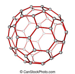 Fullerene C60 molecular structure - Optimized molecular...