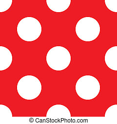Red vector polka dots background - Retro vector pattern with...