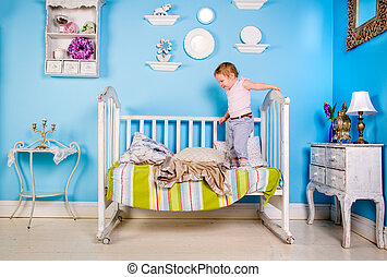 Baby on the bed