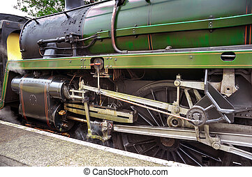 Steam Engine Train - Steam engine train waiting at Alton...