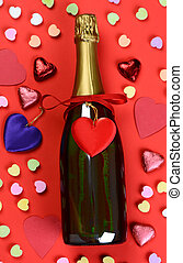 Valentines Day Candy and Champagne