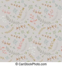 Seamless With Aromatic Herbs - Seamless pattern with various...