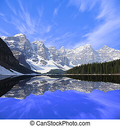 Moraine lake.  - Banff National park. Canadian Rockies.