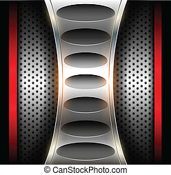 Abstract background technology metallic, vector.
