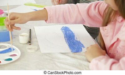 Lesson In Drawing - Children At Lesson In Drawing