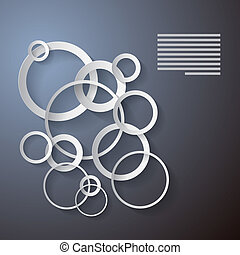 Abstract Vector Background Made from Paper Cut Circles