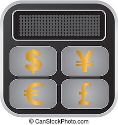 calculator currency converter  - suitable for user interface