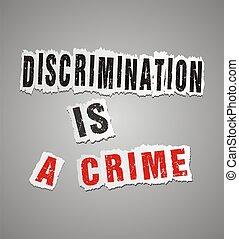 discriminação, crime, cartaz