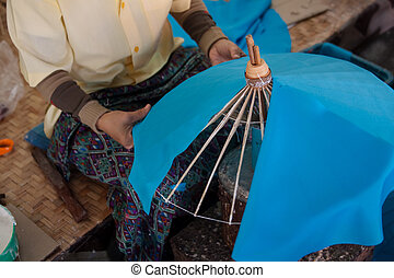 umbrella Arts and crafts - How to make the process umbrella...