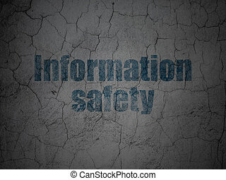 Security concept: Information Safety on grunge wall background