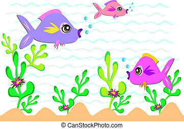 Fish and Plants in the Ocean