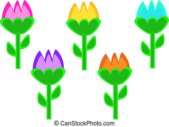 Mix of Colorful Tulips
