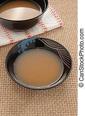 Miso soup Japanese cuisine