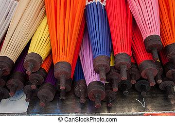 umbrella Arts and crafts - How to make the process umbrella...