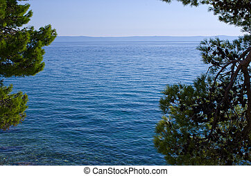 Sea with natural frame - View on sea with natural frame