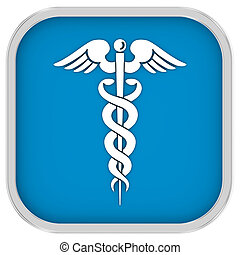 Caduceus Sign on a white background part of a series