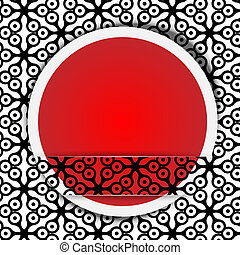 red point with pattern
