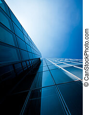 office buildings modern glass silhouettes of skyscrapers
