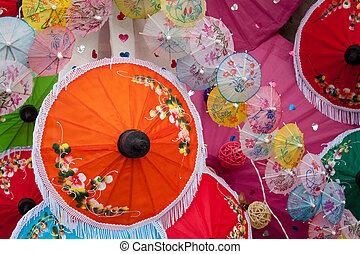 umbrella Arts and crafts - umbrella made ??of paper / cloth...