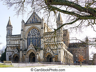 Cathedral and Abbey Church of Saint Alban in StAlbans, UK