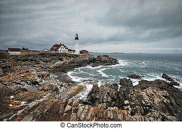 Portland Headlight in Maine - Portland Headlight along...