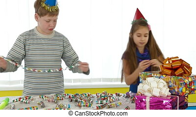 Children birthday party preparation