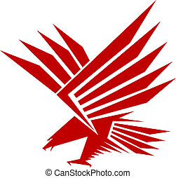 Falcon mascot - Red falcon for mascot or tattoo design