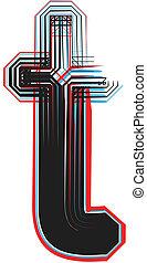 Font illustration letter t
