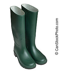 Green Wellington boots - Pair of Agricultural workers Green...
