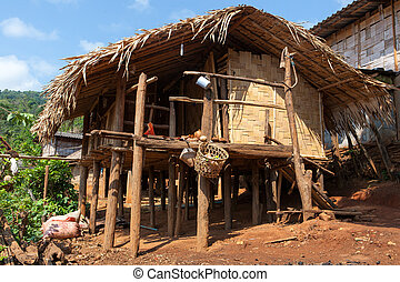 bamboo house - The bamboo house in Lahu North Tayland