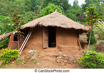Clay house - The clay house in Lahu North Tayland