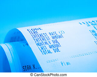 receipt paper a description of interest rate
