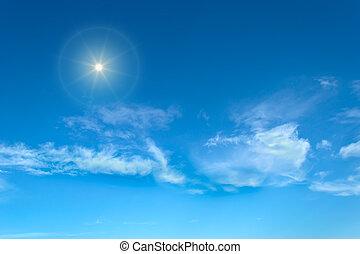shining sun on a clear summer day